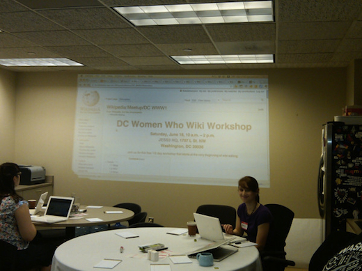 DC Women Who Wiki Workshop at JESS3