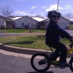 Owen rides a bike