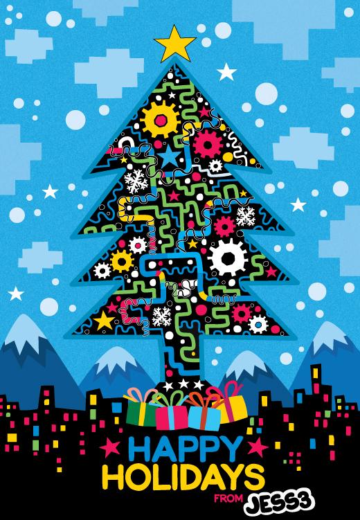 JESS3 Christmas card